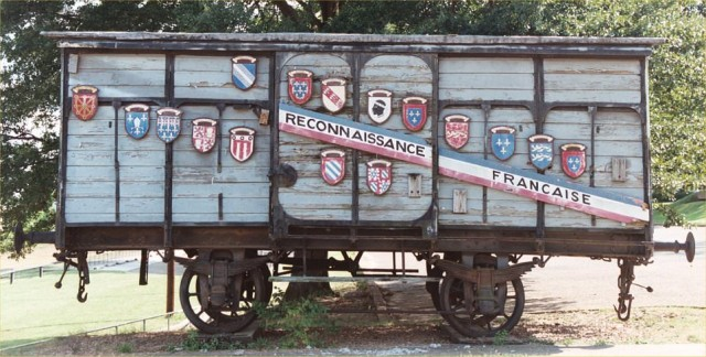 """French """"40 and 8"""" Boxcar, Jackson, Mississippi"""