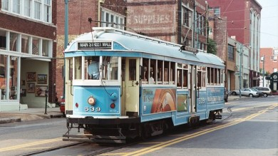 Memphis Streetcar Near Central Station