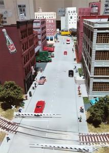 City street scene on the Missouri History Museum layout.