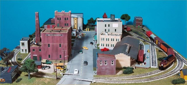 The four-lane street enters the layout from this end.