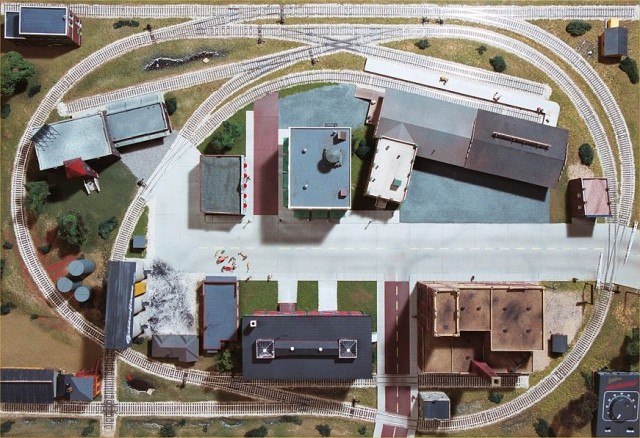 Overhead view showing the location of the major structures.