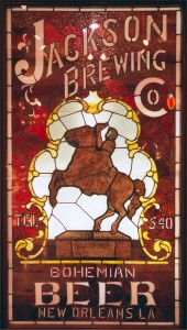 Jackson Brewing Co. Stained Glass Panel