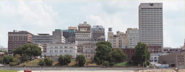 Memphis City Skyline Photographic Backgrounds