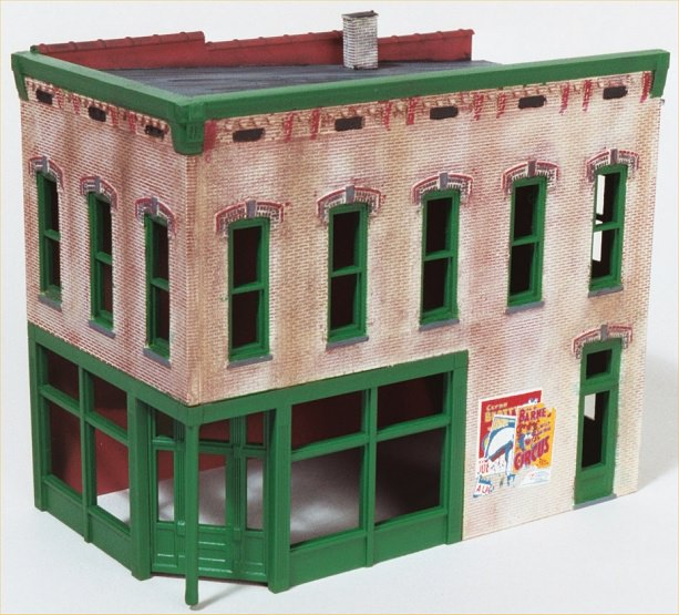 Blend the building colors using weathering chalks.