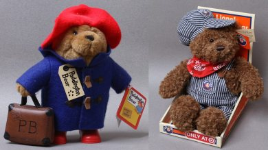 Paddington Bear and Lionel Engineer Bear