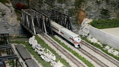 Bob Buschart's CB&Q-AT&SF HO Scale Model Railroad