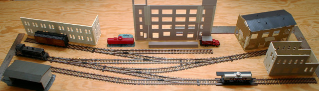 Planning Photo of the Gateway Central XV HO Scale Switching Model Railroad