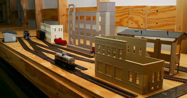 Planning Photo of the Right Side of the Gateway Central XV HO Scale Switching Model Railroad