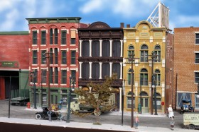 Jacob Libhart's City Streetcar Model Railroad Diorama