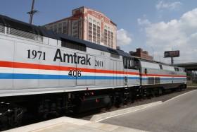 Amtrak Celebrates Forty Years Exhibit Train