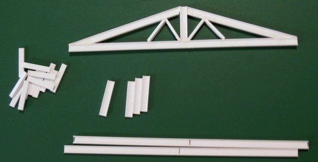 I made my own trusses out of styrene strips.