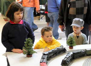 Children Watching Lionel Trains at the St. Louis Train Show