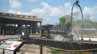 One of three working steamers.