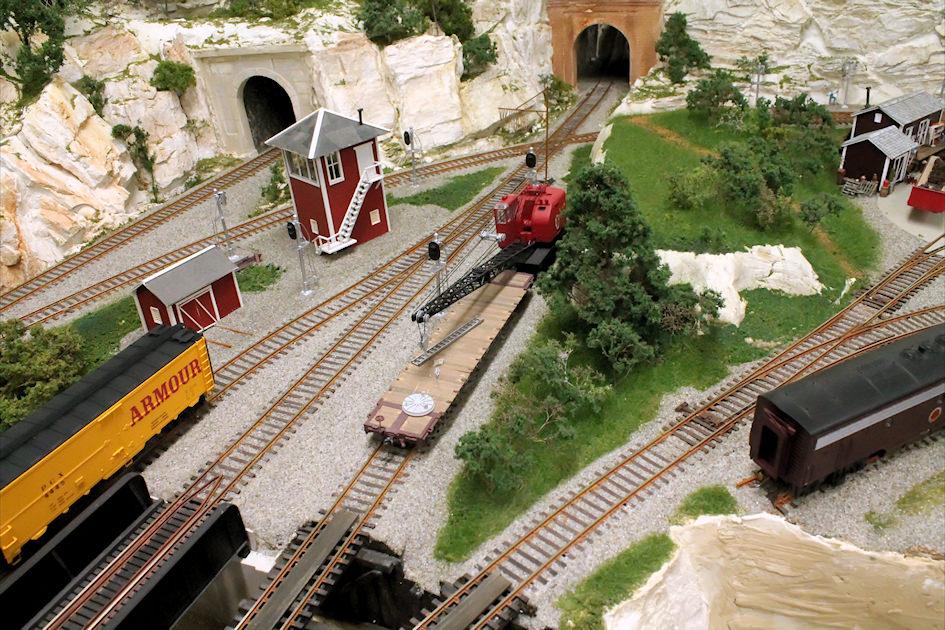 Detailing a Model Railroad Yard Scene tying levels