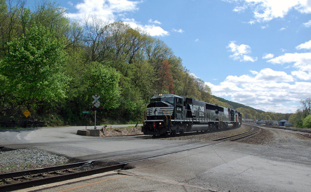 More blue sky ... east bound at Tyrone, PA.
