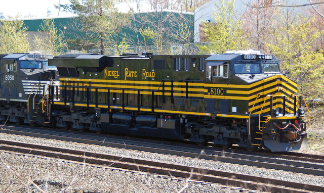 Nickel Plate tied down for the day on the east side of Cresson ... NS is apparently keeping this unit between Johnstown and Harrisburg.