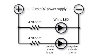 Wiring a single white LED