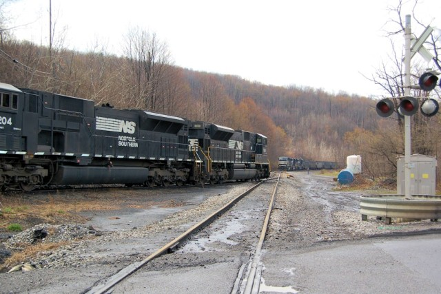 The coal load out facility at Portage was busy one day.
