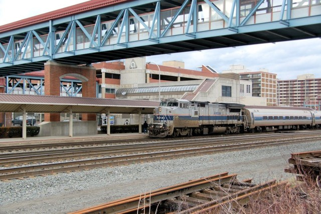 """This """"old guy"""" leads the westbound Pennsylvanian into Altoona one afternoon."""