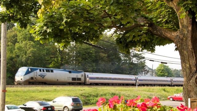 Amtrak's Pennsylvanian headed west towards Pittsburgh