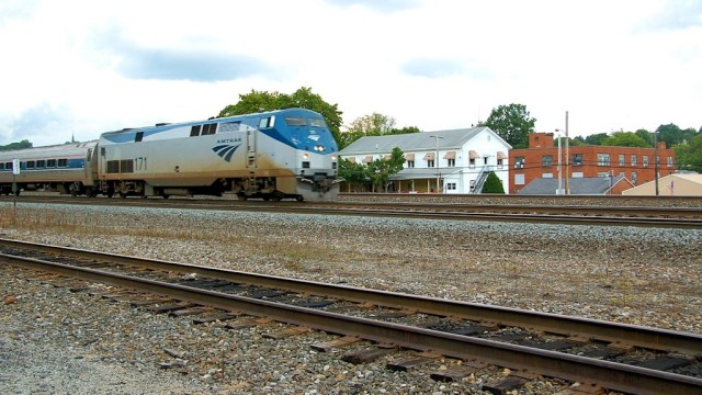 Amtrak's Pennsylvanian is westbound towards Pittsburgh