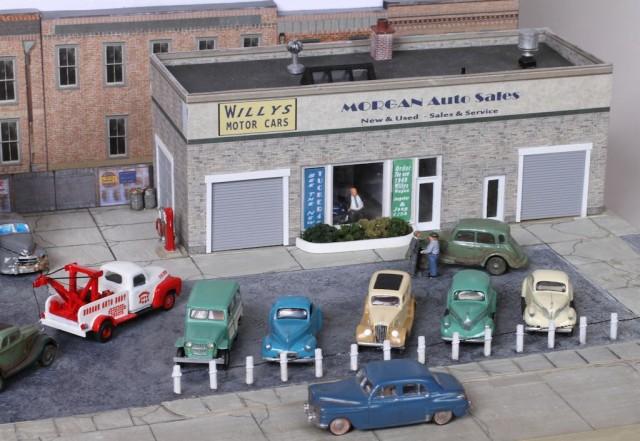 1949 Morgan Auto Sales Diorama