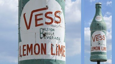 Vess Neon Soda Bottle Sign