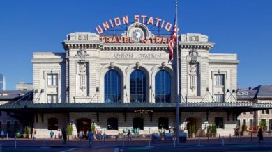 Denver's Union Station, opened in 1914 and following a $54 million two-year renovation in 2012-14, retained its iconic front.