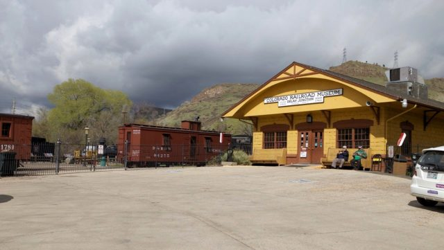 The extensive Colorado Railroad Museum is located at Golden, Colorado, a few miles west of Denver. It features a large outdoor collection of period rolling stock and a large and well-done evolving HO model railroad. It's highly recommended for rail fans.