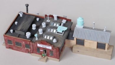 John Carty's Kitbashed and Scratchbuilt Roesch Enamel Range Factory