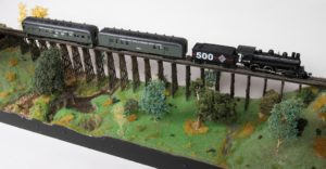 Passenger Train #8 on Trestle