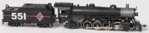C&IM #551 2-8-2 Steam Locomotive