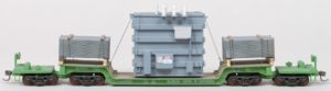BN #631021 Depressed-Center Flatcar with Transformer Load