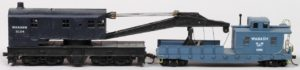 Wabash #3124 Crane and #2309 Crane Tender