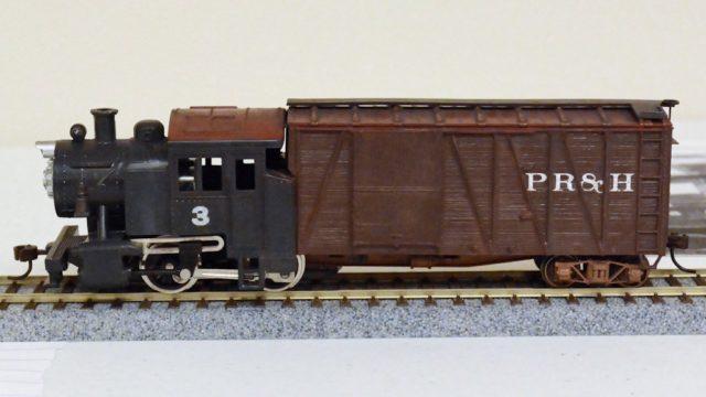 P.R. & H. Railroad Steam Powered Boxcar