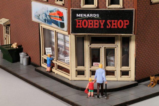 Menard's Hobby Shop Entrance and Signs