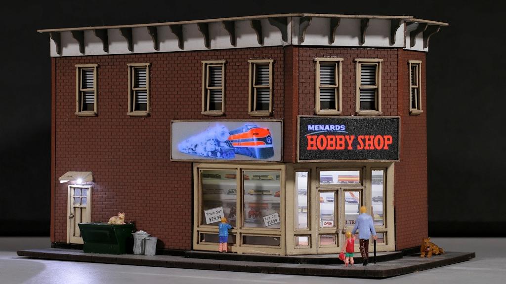Menard S Ho Scale Lighted Hobby Shop Gateway Nmra