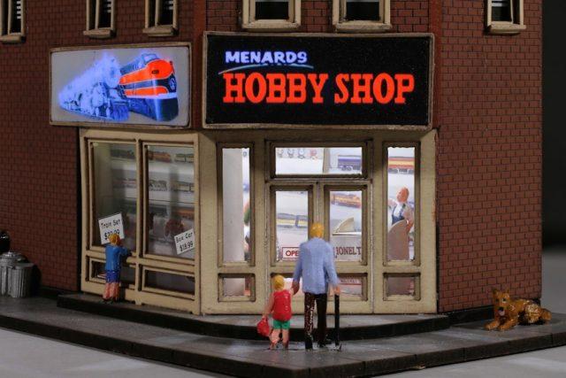Menard's Hobby Shop Lighted Interior