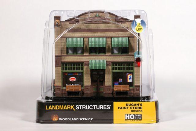 Woodland Scenics Landmark Structures® HO scale Dugan's Paint Store.