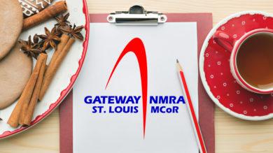 Gateway NMRA Logo, Holiday Clipboard