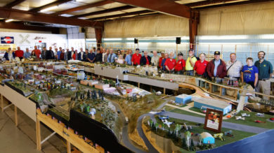 Joint NMRA-NRHA Arborway, T.T. & Northwestern Railroad Trip Group Photo