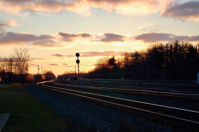 Sunset at Berea, Ohio.