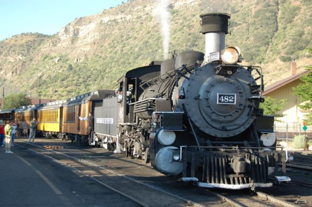 At the station in Durango, Colorado.