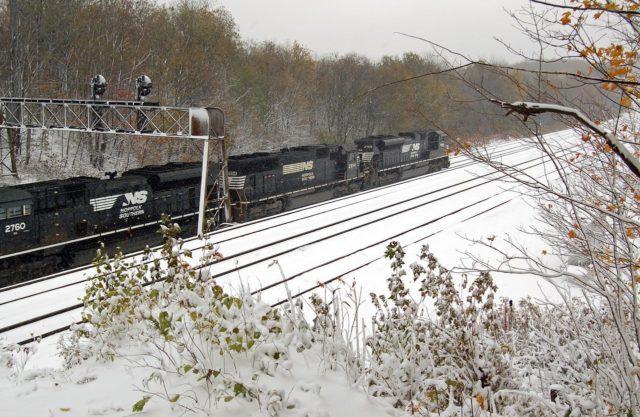 Between Cresson and Gallitzin, Pennsylvania.