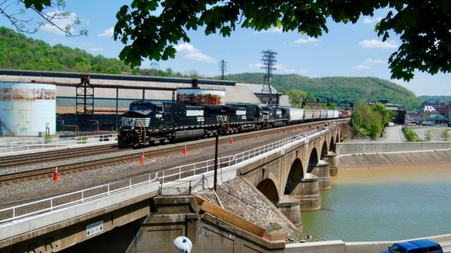 The wall of water that took over 2,800 lives in the Johnstown Flood of 1889 was stopped at this bridge in Johnstown, Pennsylvania.