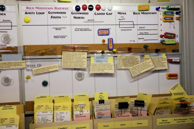 Magnetic dispatcher sheet.
