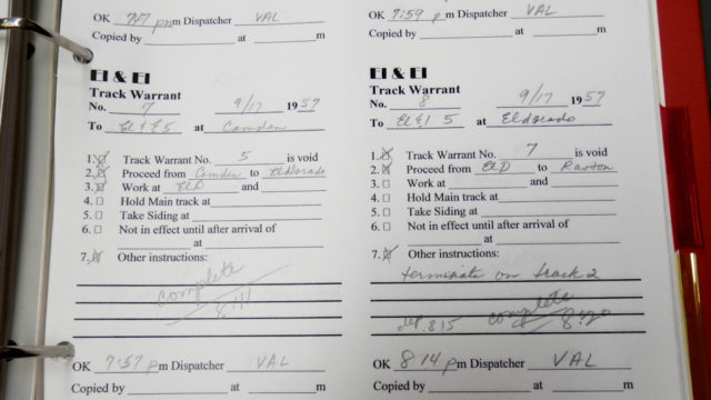 Detail: two warrants sequence.
