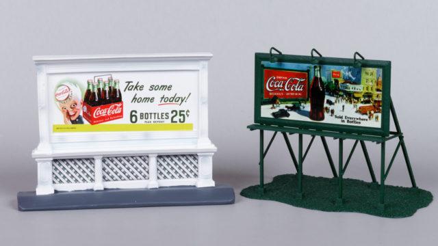 Mini Metals and Athearn Coca-Cola HO Scale Billboards