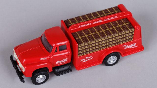Mini-Metals 1954 Coca-Cola bottle delivery truck