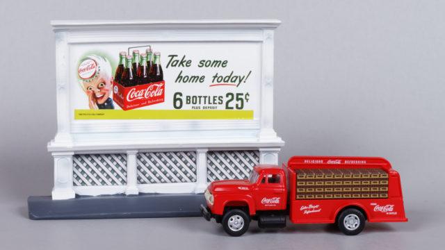 Mini Metals Coca-Cola Delivery Truck and Billboard Set